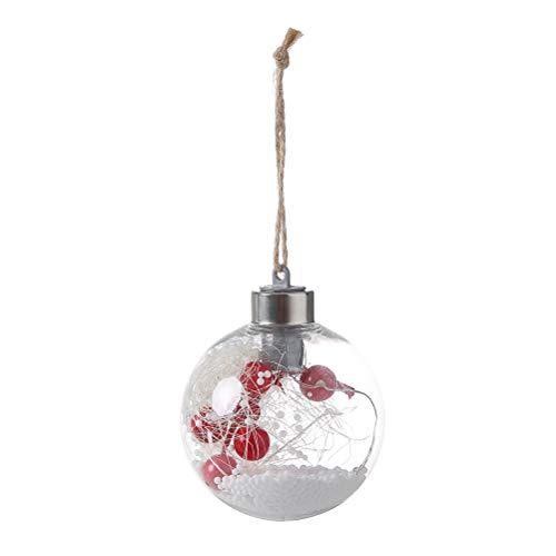BESTOYARD LED weihnachtslicht Ball Lichterketten Batteriebetriebene Hängelampen mit Jute Seil Globale LED Draht Hängeleuchte für Christbaumschmuck (Stil C)