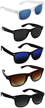 Silver Kartz UV 400 Protection Men's and Women's Aviator Sunglasses (Black, Medium) - P