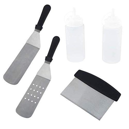 AUNMAS BBQ Tool Sets Outdoor All Clad Kulinarisches Kochen Teppanyaki Schaufel Mehl Schaufel Öl Topf Gadgets Zubehör (Kulinarische Topf)