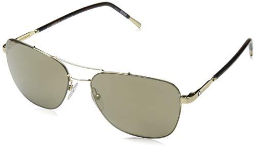 Montblanc Herren Mont blanc MB696S-32F-56 Sonnenbrille, Gold/Gradient Brown, 56
