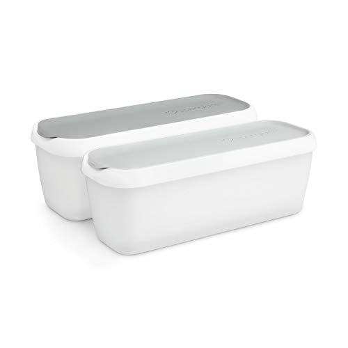 2er-Set Eisbehälter 1L, Aufbewahrungsbehälter für Speiseeis, Gefrierdosen, Eis-Container BPA-frei in Lebensmittelqualität
