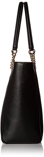 Coach , Damen Schultertasche Light Gold/Black
