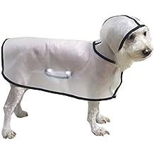 BbearT Perro Chubasquero de Mascota Ligero Transparente con Capucha Impermeable Chaqueta Abrigo para Perros Pequeños Cachorro