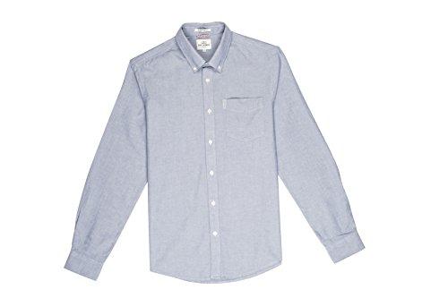 Ben Sherman Herren Freizeithemd Ls Core Oxford Blau (Dusk D92)