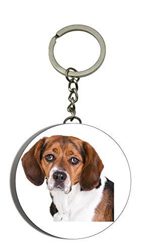 Beagle Hund Bild Flaschenöffner Schlüsselanhänger 58mm Schlüsselanhänger Jagd Hund Besitzer Liebhaber