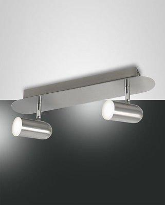 Fabas Luce 3328–82–178Spot tacheté en métal Nickel LED Warm White 10W 900LM
