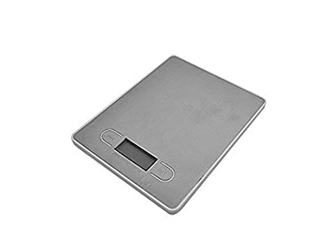Digital Kitchen Scale Portable, Light-Weight Professional Multi-functional (5KG) 5000g x 1g with Back-lit LCD Display by Trimming Shop (White Grey)