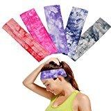 5pcs Women Sweatband Headbands Running Headbands Girls Hair Band Assorted Colors Yoga Headband Sports headbands