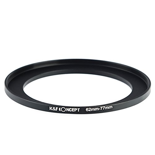 62mm Step-down Ring (K&F Concept? 62-77mm Filter Adapterring für 62mm Objektiv auf 77mm Filter,Filter Adapter 62-77,Step up Ringe 62-77,Step up Adapter,Vergrößernde Filteradapter für Canon Sony Sigma Tamron)