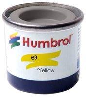 ENAMEL PAINT, 14ML, NO 69 YELLOW - GLOSS AA0761 By HUMBROL