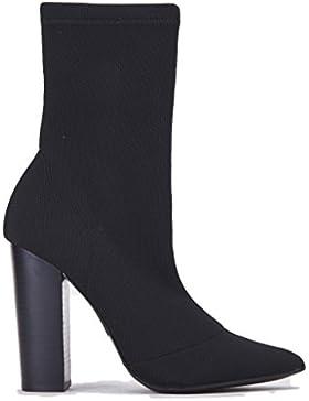 Tronchetto tacco Donna STEVE MADDEN nero velluto, nuova collezione autunno inverno 2017/2018