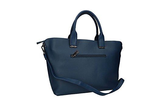 Borsa donna PIERRE CARDIN a mano apertura zip con tracolla Blu