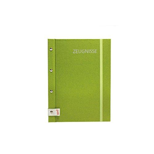 lila Schule Zeugnis Mappe metallic A4 Idena 20016 Zeugnismappe 12 Hüllen