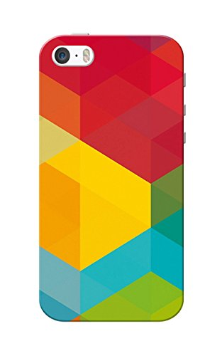 iPhone 5 Case, iPhone 5S Case, Multi Color Design Slim Fit Hard Case Cover/Back Cover for Apple iPhone 5/5S  available at amazon for Rs.99