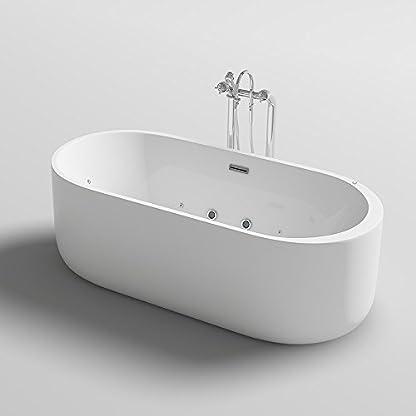 Home Deluxe, freistehende bañera de diseño, Bola Plus, con función de Whirlpool