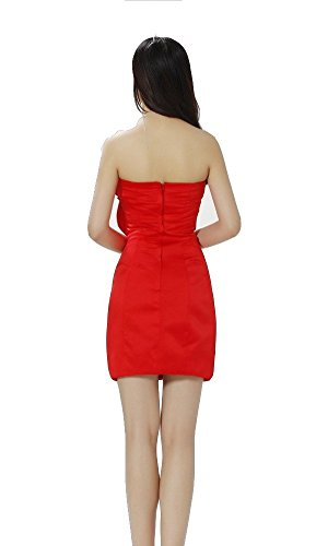 drasawee femmes robe bustier Sexy Robe cockatil Party Soirée Prom demoiselle d'honneur robes red