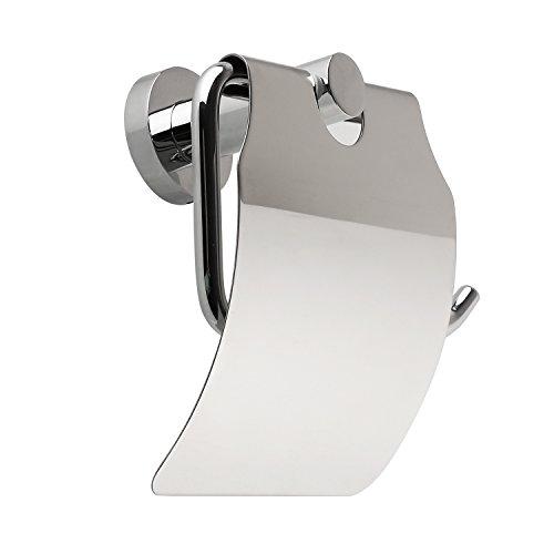 Amzdeal WC Toilettenpapierhalter, Metall, verchromt
