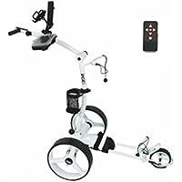 Elektro Golf Trolley PGE 3.0, Motor 2x200W, Akku 33Ah, Funkfernbedienung, GPS-Halterung, USB, weiß