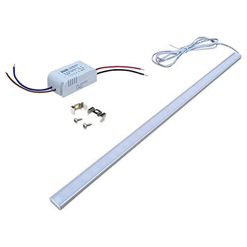 Regal 12 Licht (Schlank und dünne Aluminium-LED Licht Leuchte, Schrank Lampe, 435 - 470mm, DC 12V 5,5W. hohe Helligkeit, mit Stromversorgung, Regal Lampe, Küchenlampe (Warmweißes Licht))