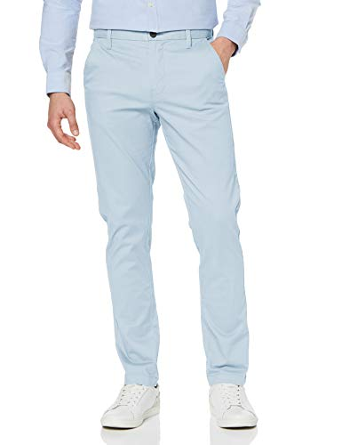 MERAKI Pantalones Chinos Estrechos Hombre, Azul (Cashmere Blue), W33/L34