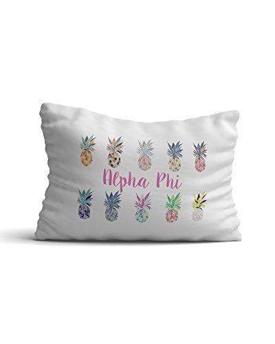 300 Pop-art (Alpha Phi Sorority Ananas Pop Art Kissenbezüge 300Fadenzahl 100% Baumwolle ein Phi)