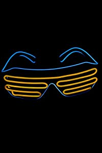 UV Floor 3700817021287 - Gafas luminosas, color azul y naranja