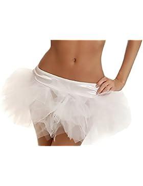 Mujer Faldas De Tul Tutú Mini Satén Con Cintura Vintage Classic Falda De Ballet Para Disfraz Halloween Baile Fiesta