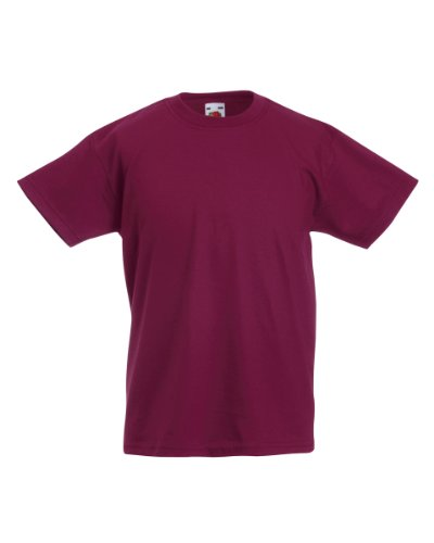 Fruit of the Loom Kinder Valueweight T-Shirt Rot