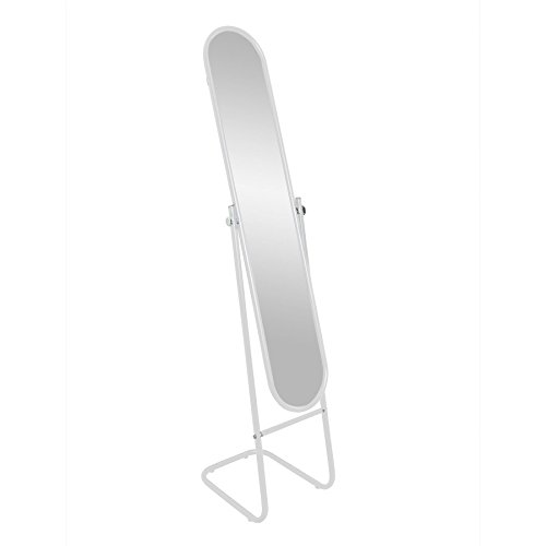 Espejo de pie Espejo de cuerpo entero orientable - Blanco