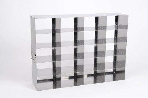 Heathrow Scientific HD2862KC Edelstahl Rack für Gefrierschränke, Horizontal, 5 x 4 Fächer, 75 mm Höhe Boxen, Metallisch