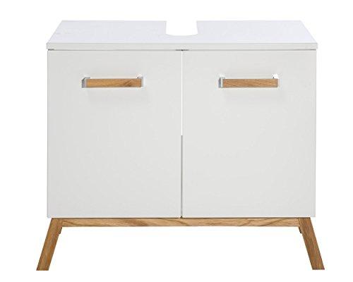 Waschbeckenunterschrank Malmö, Schildmeyer, weiß (65 cm breit) - 2