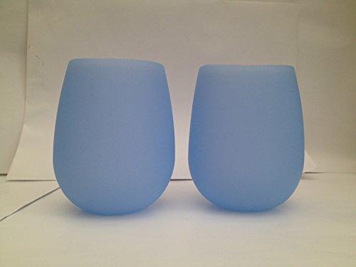 faltbare weinglaeser Silikon Weingläser, 2Stück Blau