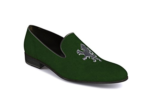 Dis Sapatos Personalizados - Deslizar Sobre Homens Verdes Escuras