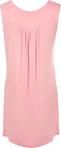WearAll - Haut sans manches avec détail clouté sur la poitrine - Hauts - Femmes - Grandes tailles 40 à 54 Rose