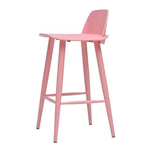 LYJ Rückenlehne Hochstuhl Barhocker Barhocker (79.5cm) (Farbe : Rosa) (Rosa Antiker Stuhl)