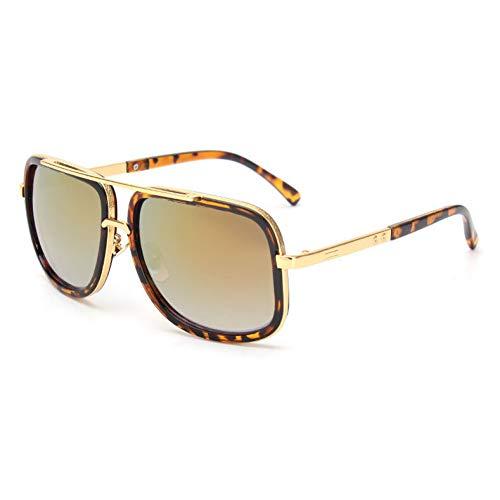 YLNJYJ Quadratische Sonnenbrille Männer Flaches Oberteil Heiße Frauen Luxusmarke Design Paar Dame Promi Brad Pitt Sonnenbrille Superstar Brillen