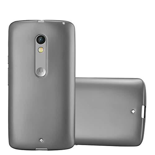 1fda4f7357a Cadorabo Funda para Motorola Moto X Play en Metallic Gris – Cubierta  Proteccíon de Silicona TPU