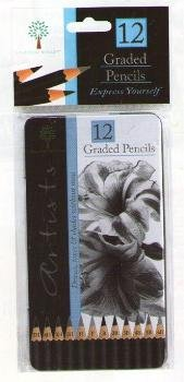 12-assorted-graded-artists-graphite-drawing-sketching-pencils-5h-to-6b-in-metal-storage-tin-case