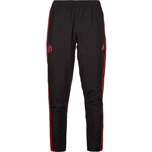 adidas Herren Manchester United Woven Pant Trainingshose, Black/Blaze red/Core pink, XL -