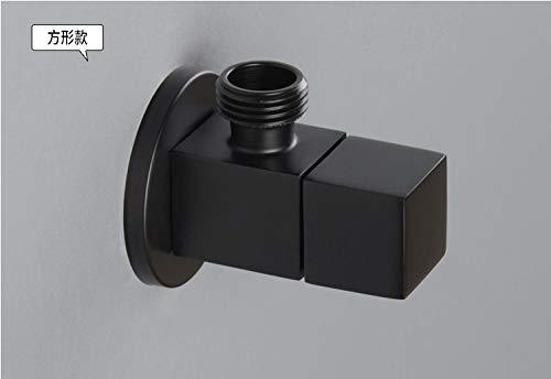 mazhant Quadrat Messing Chrom Wc Badezimmer Dreieck Adapter Ventil Fitting 1/2 Zoll IPS Drehschalter Winkel Absperrventil - Ips-adapter