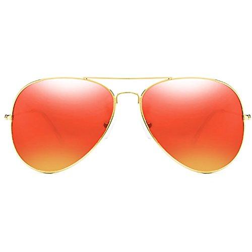 HGyanjing Heiße Mode Sonnenbrille UV-Schutzbrille Herrenbrille Driving-Sonnenbrille Männliche Fahrerbrille Spiegel Gehärtetes Glas-Objektiv Angeln Sonnenbrille (Farbe : B) Vakuum-objektiv