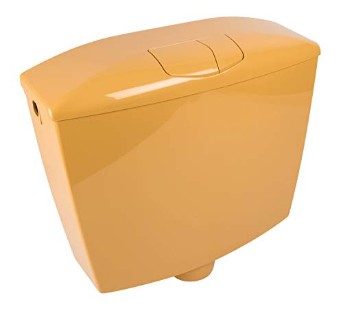 Calmwaters - Ferreol - Aufputz-Spülkasten mit 3,5 bis 9 l Spülmenge und Zwei-Mengen-Spülung in Curry-Gelb - 29HB2729