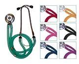 Timesco TD1–13–305, Stetoscopio, doppio tubo, stetoscopio Sprague Rappaport, colore: rosso