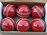 #6: Forever Online Shopping Set Of 6 Yorker Leather Cricket Ball 2 Part