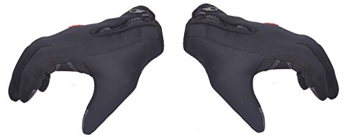 HIVER Full Finger Motorcycle Riding Racing Biking Driving Motorcycle Gloves for Winters with an Adjustable size - Medium Gloves (Black)