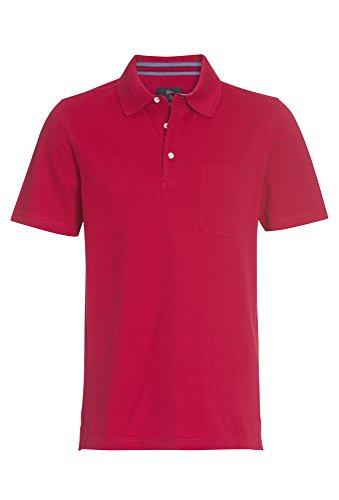 PAUL R.SMITH Basic Poloshirt, Herren T-Shirt,Shirt,Polo-Shirt,Kurzarm-Shirt,1/4-Arm Rot