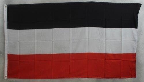 Flaggenking Fahne, Deutsches Kaiserreich Kaiserflagge, schwarz / weiß / rot, 150 x 90 x 1 cm, 16924