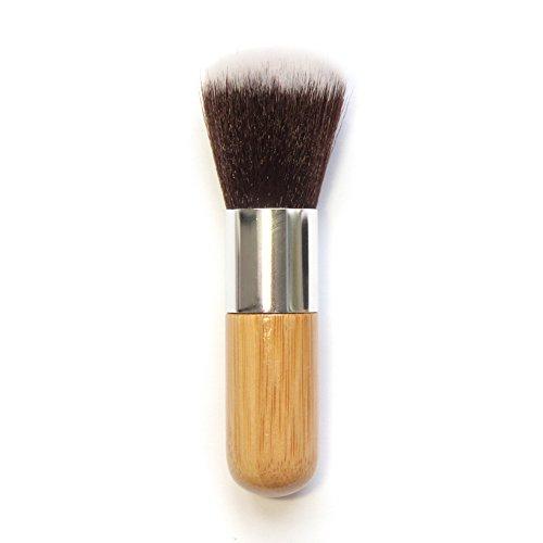Leisial Pinceaux Maquillages Court Petit Professionnel pour Yeux et Visage Bambou Nylon Tube en Aluminium