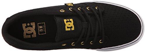 DC - Anvil Tx Se J Shoe Gry, Sneaker basse Donna Black/white/gold