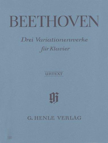 3 Variations (WoO 70/64/77) - Piano par Beethoven